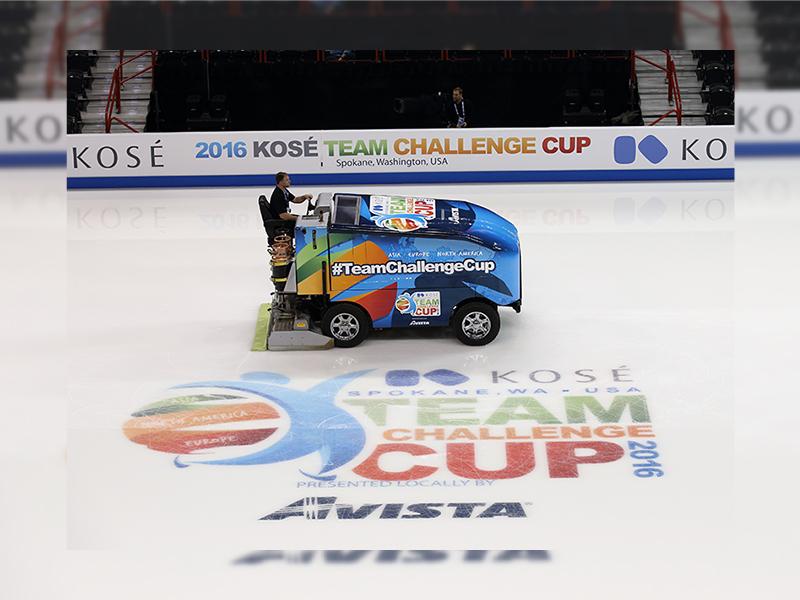 KOSE チームチャレンジカップ2016 冠スポンサー広告を掲載
